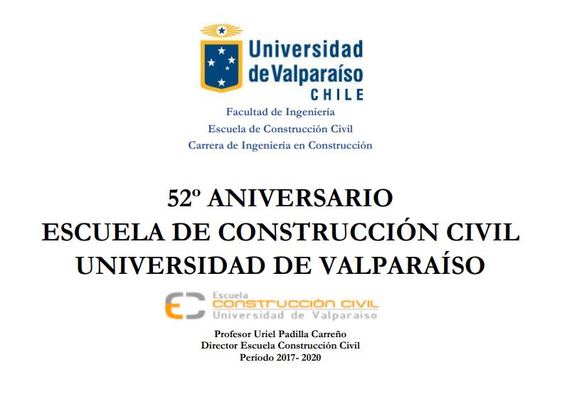 Texto Testimonial 52 años Escuela de Construcción Civil Universidad de Vaparaíso
