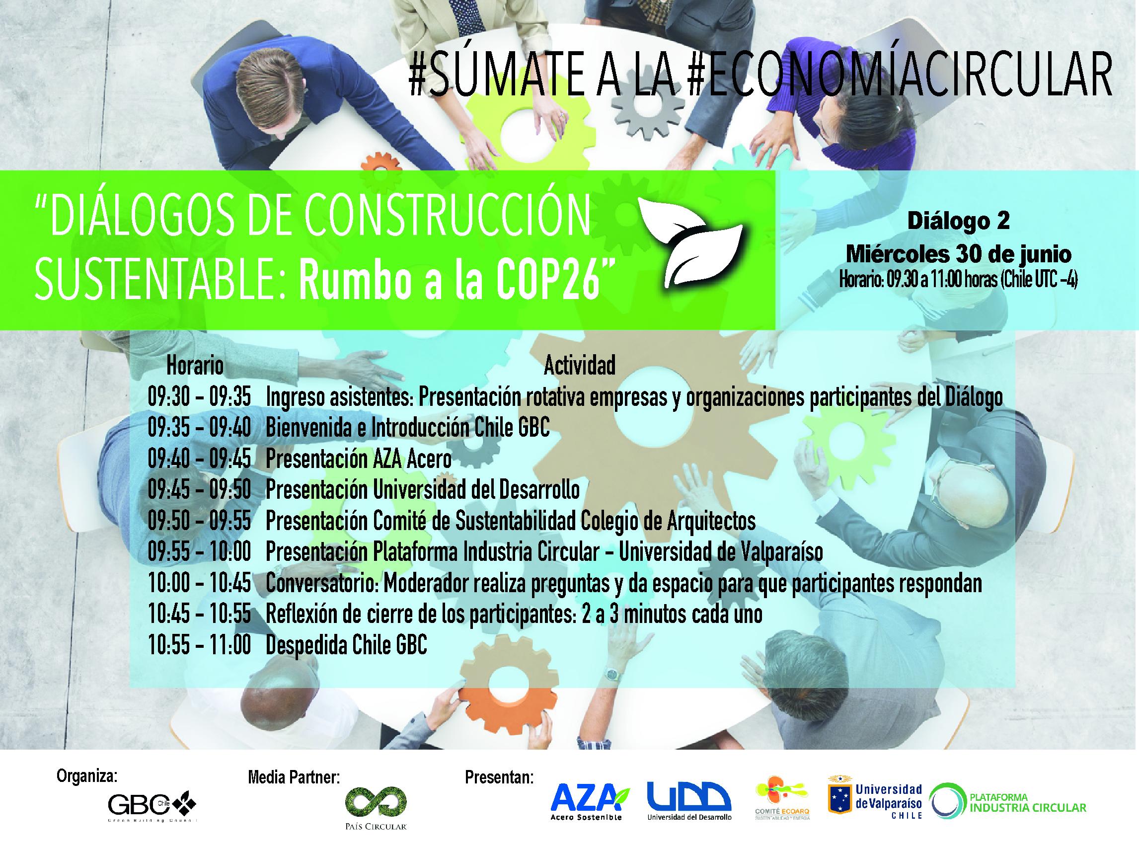 Diálogos construcción sustentable: Rumbo a la COP 26