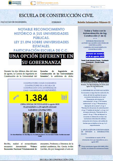 Boletín Informativo N°21.