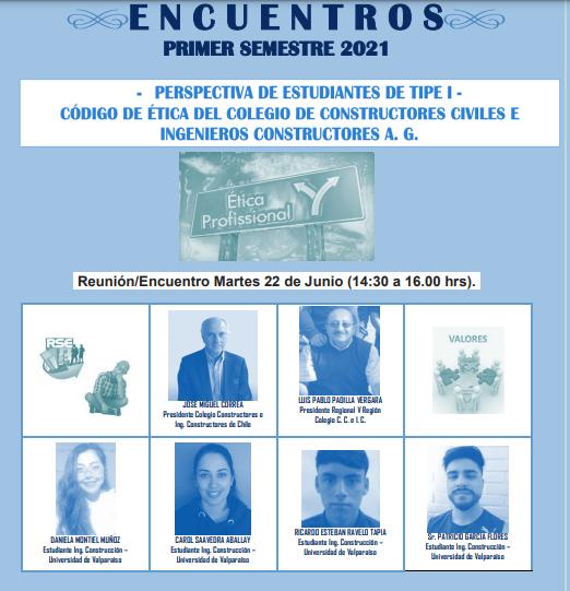 Perspectiva de Estudiantes de TIPE I - Código de Ética del Colegio de Constructores Civiles e Ingenieros Constructores A. G.