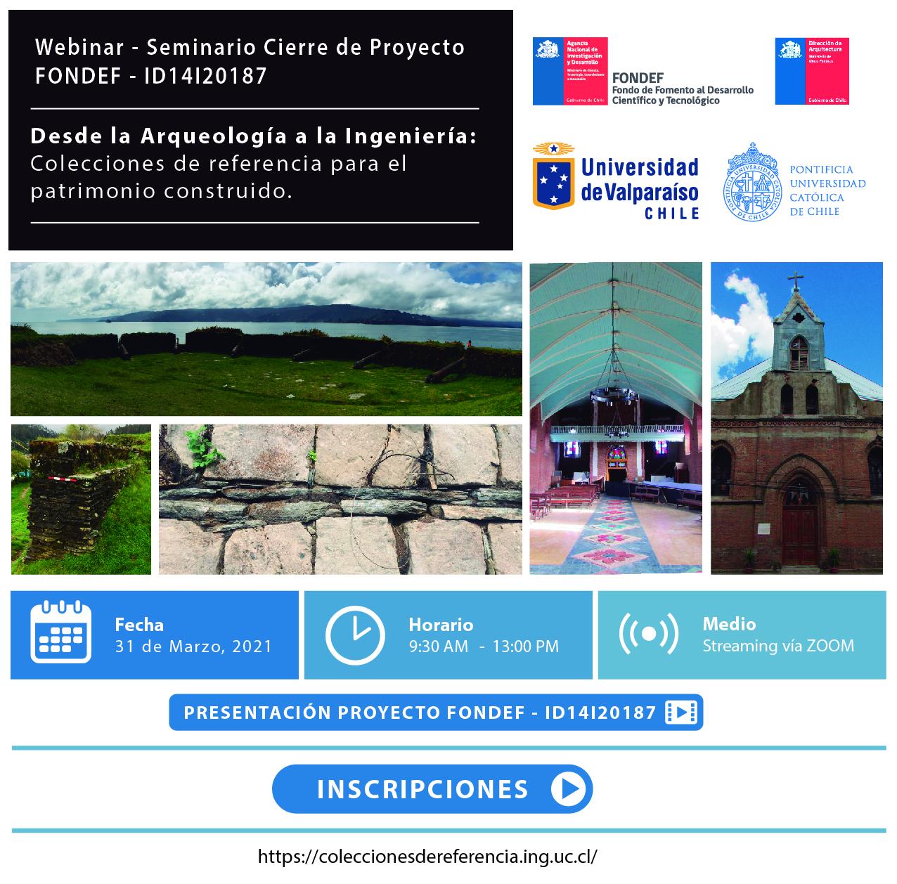 Webinar - Seminario Cierre de Proyecto FONDEF- ID14120187